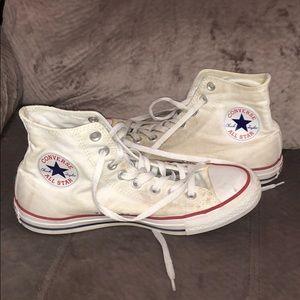 🦋 White High-Top Converse W9 M7